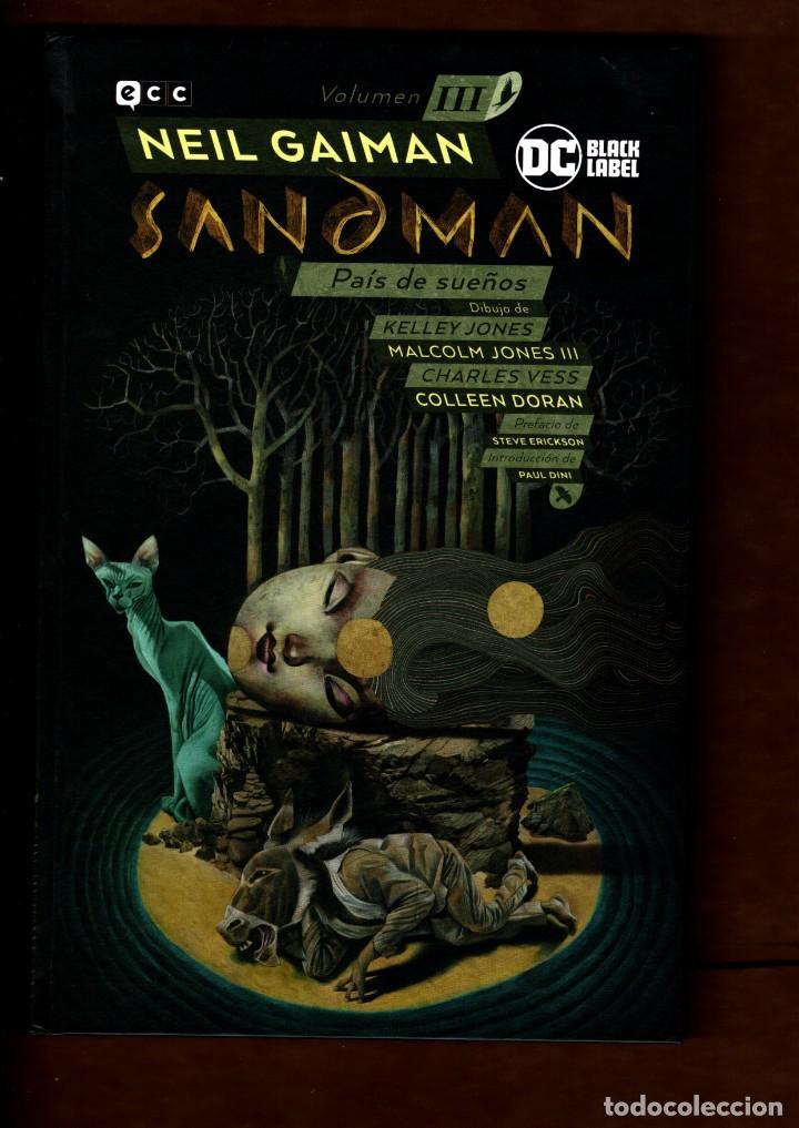 BIBLIOTECA SANDMAN 3 : PAÍS DE SUEÑOS - ECC / DC BLACK LABEL / TAPA DURA / NUEVO DE EDITORIAL (Tebeos y Comics - Comics otras Editoriales Actuales)