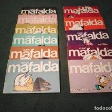 Cómics: CÓMICS MAFALDA. (QUINO) COLECCIÓN COMPLETA DEL 0 AL 10. EDITORIAL LUMEN. AÑOS 80. Lote 236691055