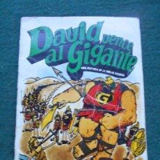 Cómics: COMIC DAVID VENCE AL GIGANTE 1975 UNA HISTORIA DE LA BIBLIA VIVIENTE. Lote 236752025