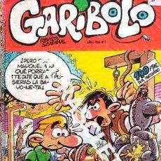 Cómics: GARIBOLO - NUMERO 1 - AÑO 1986. Lote 236787135