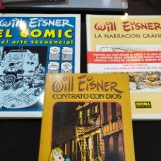 Comics : LOTE WILL EISNER: EL CÓMIC Y EL ARTE SECUENCIAL, LA NARRACIÓN GRÁFICA Y CONTRATO CON DIOS. Lote 237299445