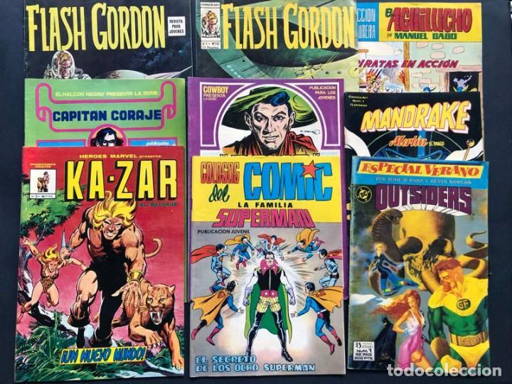LOTE 9 COMICS DIFERENTES / (Tebeos y Comics - Comics Pequeños Lotes de Conjunto)