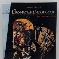 Cómics: CRÓNICAS BÁRBARAS, EDICIÓN LIMITADA 1 Y 2 COMPLETO, JEAN - YVES MITTON (YERMO EDICIONES). Lote 241102825
