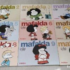 Cómics: COLECCIÓN MAFALDA - LOTE DE 9 NÚMEROS (DEL 2 AL 10) - EDITADO POR DIARIO PUBLICO. Lote 242330985