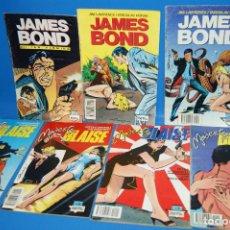 Cómics: LOTE 6 COMICS MODESTY BLAISE - NÚMEROS 2, 3 Y 4 + JAMES BOND Nº 1, 2 Y 3. Lote 243509990