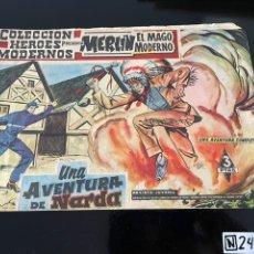 Cómics: COLECCIÓN HÉROES MODERNOS - MERLIN - UNA AVENTURA DE NARDA. Lote 244306295