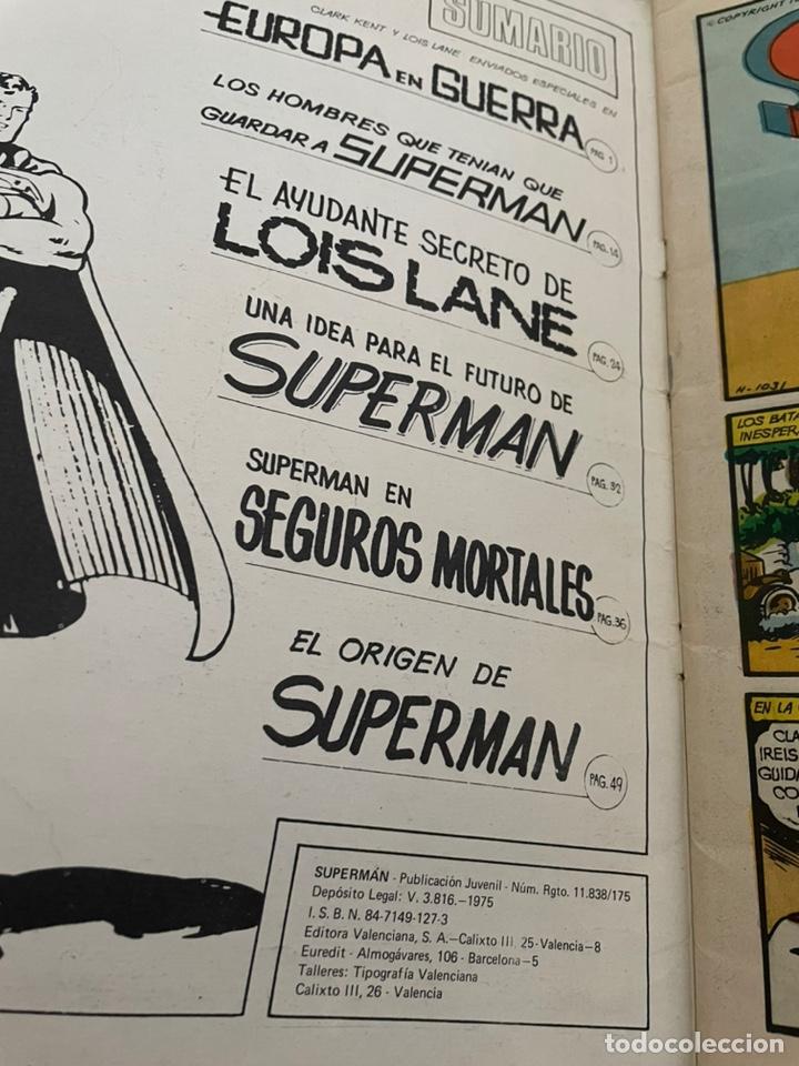 Cómics: SUPERMAN: LAS 6 MEJORES AVENTURAS, 64 PAGINAS, EDITORIAL VALENCIANA 1975 - Foto 2 - 244358555