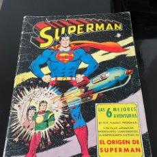 Cómics: SUPERMAN: LAS 6 MEJORES AVENTURAS, 64 PAGINAS, EDITORIAL VALENCIANA 1975. Lote 244358555