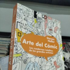Cómics: STEVEN HELLER ARTE DEL COMIC LOS CUADERNOS INÉDITOS DE LOS GRANDES ARTISTAS MUY BUEN ESTADO. Lote 244484140