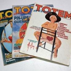 Cómics: 3 NUMEROS DE COMICS TOTEM EL COMIX AÑOS 80. Lote 244566615