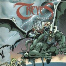 Cómics: TREYES EXODUS (PEDRO CAMELLO / EDUARDO CUBERA) ALETA EDICIONES - COMO NUEVO. Lote 244814005