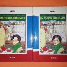 Cómics: RAPSODIA HÚNGARA. VITTORIO GIARDINO. 1ª Y 2ª PARTE. EL PAIS.. Lote 245655245