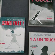 Cómics: JACQUES FAIZANT POUCE SANS FILET Y UN TRUC SELECTION DE DESSINS PARUS DANS LE POINT. Lote 245929410