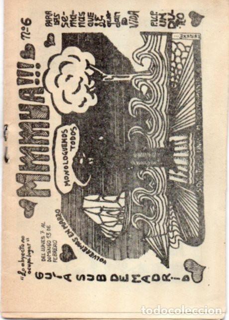 FANZINE MMMUA!!! 6. EDICIONES ANTÍPODAS. MADRID, 1977. UNDERGROUND (Tebeos y Comics Pendientes de Clasificar)