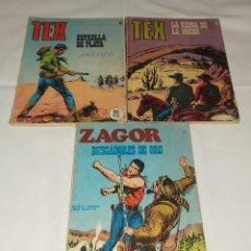 Cómics: LOTE DE 2 TEBEOS-COMIC TEX + 1 NOVELA ZAGOR. Lote 246874945