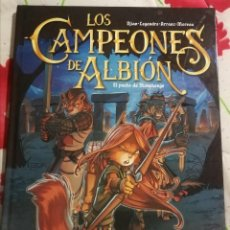 Cómics: LOS CAMPEONES DE ALBIÓN (ARRANZ/DJIAN... ) TAPA DURA A COLOR. CON DEDICATORIA DEL AUTOR. VER FOTO. Lote 247589220