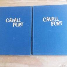Cómics: REVISTA CAVALL FORT EN DOS TOMOS ENCUADERNADO AÑO 1979 COMPLETO. Lote 247650175