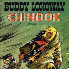 Cómics: BUDDY LONGWAY.CHINOOK Nº 1 COL. JET BRUGUERA.(CON DIBUJO DEDICADO DE DERIB).. Lote 248264425