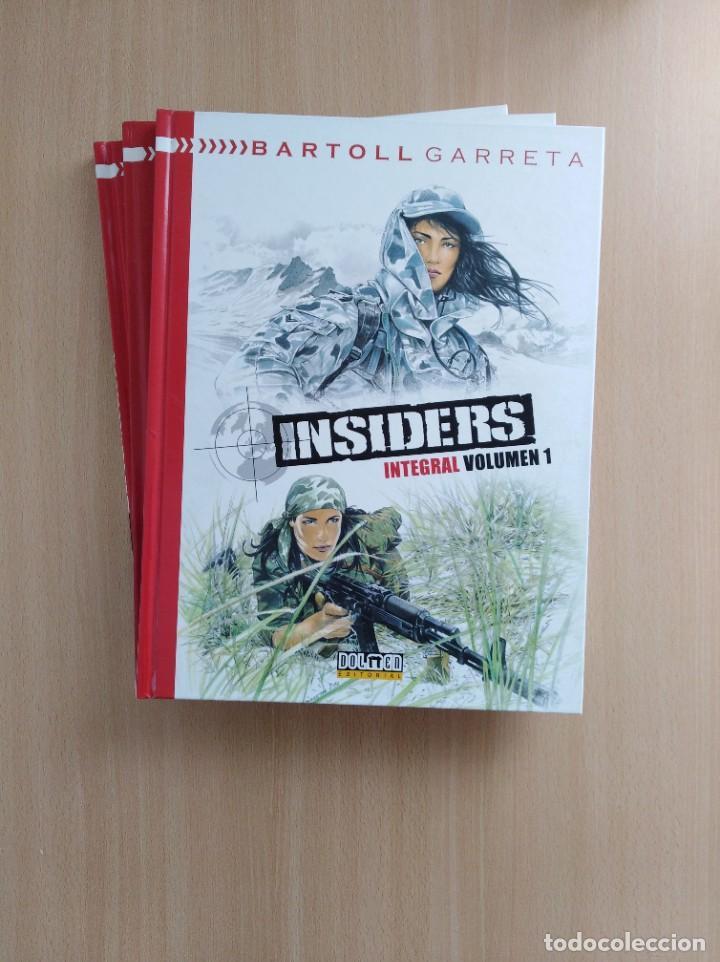 INSIDERS INTEGRAL 1-2-3. BARTOLL/GARRETA. DOLMEN EDITORIAL (Tebeos y Comics - Comics otras Editoriales Actuales)
