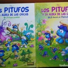 Cómics: LOTE LOS PITUFOS Y LA ALDEA DE LAS CHICAS TOMOS 1 Y 2. COMO NUEVOS. TAPA DURA A TODO COLOR. OFERTA.. Lote 251681585
