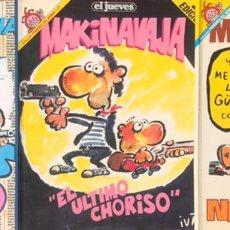 Cómics: LOTE 3 COMICS MAKINAVAJA LIBROS EL JUEVES - EL ULTIMO CHORISO, SIN DIOS NI AMO, NOSOMOSNA PENDONES. Lote 253850100
