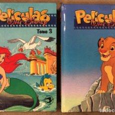 Cómics: LOTE 2 TOMOS (N° 3 Y 4) PELÍCULAS WALT DISNEY. EDICIONES GAVIOTA 1995. LA SIRENITA, EL REY LEÓN,.... Lote 174991960