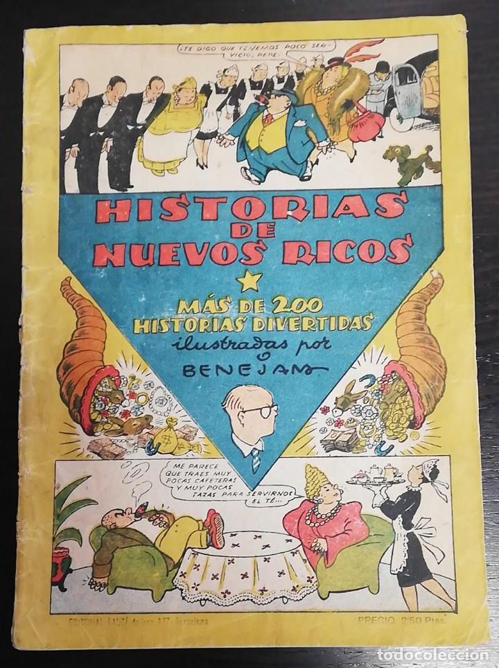 HISTORIAS DE NUEVOS RICOS. ILUSTRADAS POR BENEJAM (Tebeos y Comics Pendientes de Clasificar)