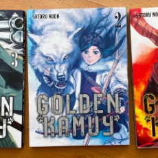 Cómics: GOLDEN KAMUY, SATORU NODA, NUMEROS 1,2,3. Lote 254897805