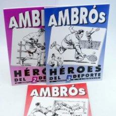 Cómics: AMBRÓS: HÉROES DEL DEPORTE 1 2 3. COMPLETA (AMBRÓS / QUESADA) EL BOLETÍN, 1992. Lote 269442438