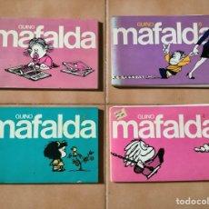 """Cómics: 4 X """"MAFALDA"""" TIRAS DE QUINO, AÑOS 80.. Lote 260346835"""