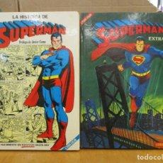 Cómics: SUPERMAN EXTRA 1 Y 2 - LA HISTORIA DE SUPERMAN - LIBRO COMIC - NOVARO. Lote 261255085