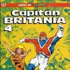 Cómics: ALAN DAVIS. JAMIE DELANO. CAPITAN BRITANIA. OBRA COMPLETA. 4 TOMOS. FORUM 1991. FORMATO PRESTIGIO. Lote 262198350