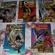 Cómics: CONAN EL AVENTURERO Nº 3, 6, 8, 9, Y 10. Lote 262207725