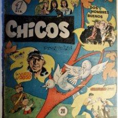 Cómics: CHICOS, EDITORIAL CID 1954, NÚMERO 20 ORIGINAL. Lote 262289170