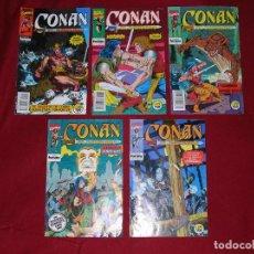 Cómics: CINCO COMICS DE CONAN EL BÁRBARO. Lote 262350280