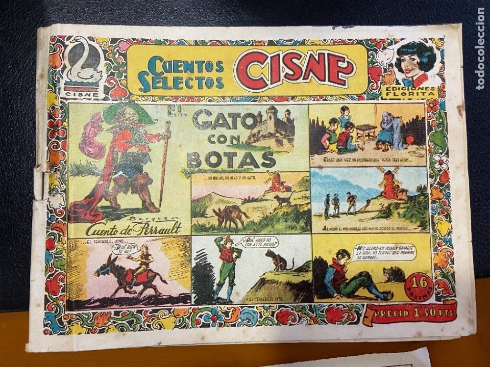 CUENTOS SELECTOS CISNE EL GATO CON BOTAS (Tebeos y Comics Pendientes de Clasificar)