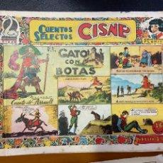 Cómics: CUENTOS SELECTOS CISNE EL GATO CON BOTAS. Lote 262912795