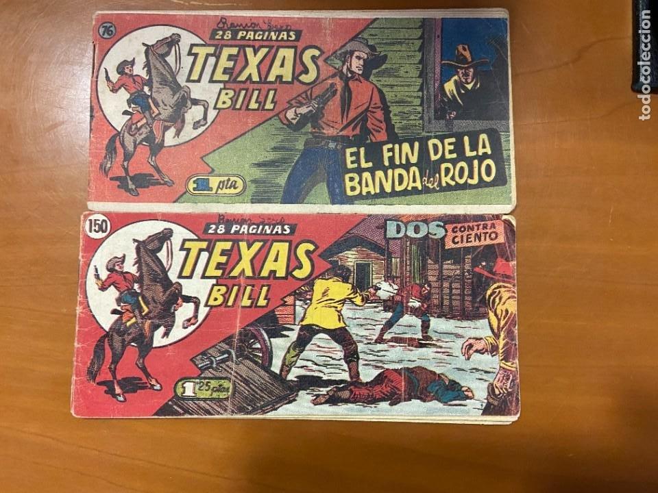 TEXAS BILL Nº 76 Y 150 SE VENDEN SUELTOS (Tebeos y Comics Pendientes de Clasificar)