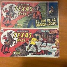 Cómics: TEXAS BILL Nº 76 Y 150 SE VENDEN SUELTOS. Lote 262922080