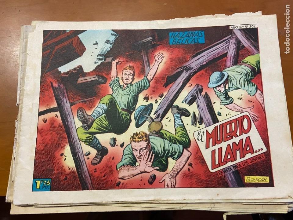 HAZAÑAS BELICAS Nº 168-202-220-227 SE VENDEN SUELTOS (Tebeos y Comics Pendientes de Clasificar)