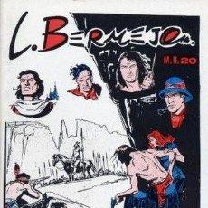 Cómics: L. BERMEJO MAS SUPLEMENTO MAESTROS DE LA HISTORIETA Nº 20 CLUB VALLISOLETANO DE AMIGOS DEL TEBEO. Lote 264044335