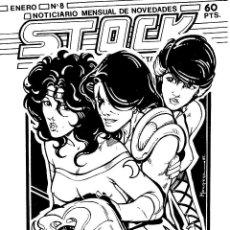 Cómics: FANZINE STOCK 8 DE HISTORIETAS. NOTICIAS SOBRE TEBEOS Y SUPERHÉROES. LIBRERÍA ARTE-9, 1987. Lote 264057320