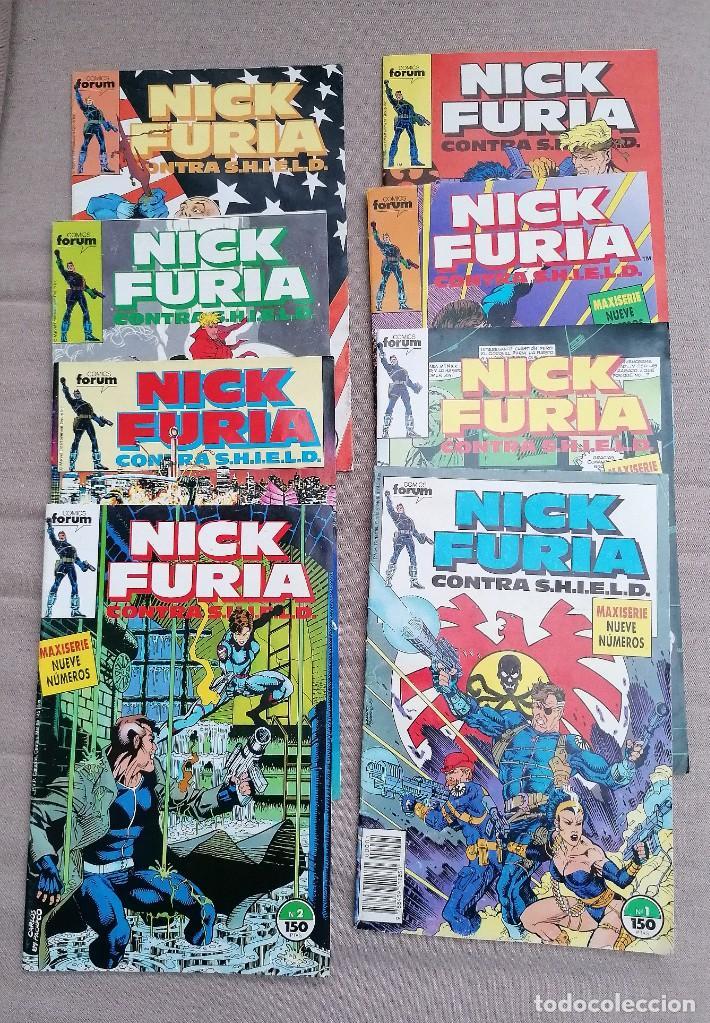 LOTE DE 8 REVISTAS DE NICK FURIA (Tebeos y Comics - Comics Pequeños Lotes de Conjunto)