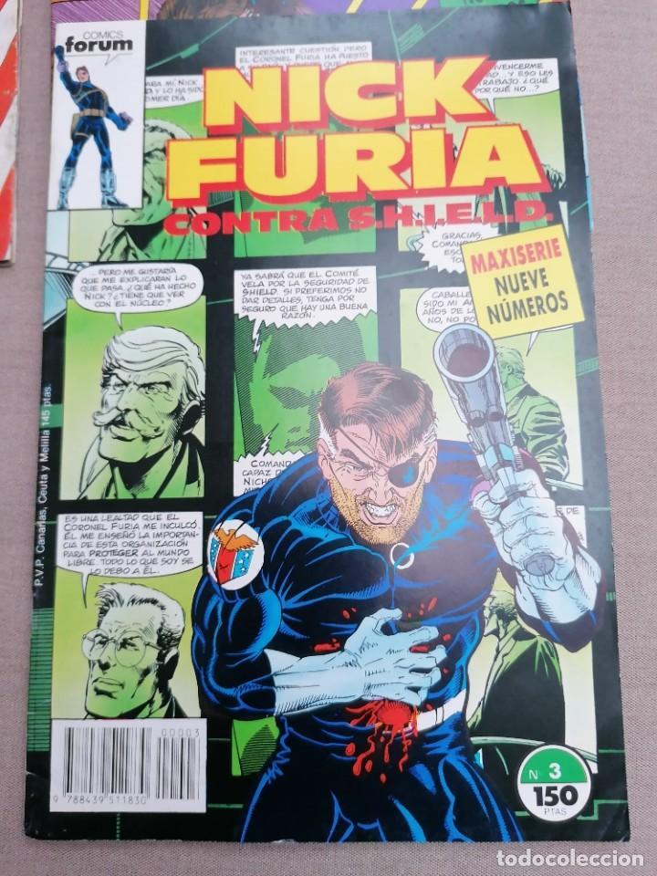 Cómics: Lote de 8 revistas de Nick furia - Foto 5 - 265544879