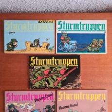 Fumetti: 5 CÓMICS STURMTRUPPEN EXTRA NÚM. 2, 6, 7, 9 Y 10 - BONVI - TIRAS CÓMICAS TBEO GUERRA CÓMIC. Lote 243786125