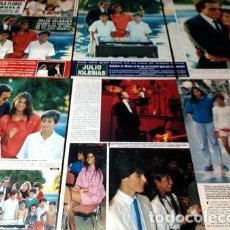 Cómics: AN004 JULIO ENRIQUE IGLESIAS RECORTES CLIPPINGS 1986. Lote 268331564