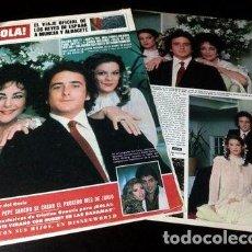 Cómics: ELIZABETH TAYLOR TAPA Y NOTA REVISTA HOLA 1856 1980. Lote 268637079