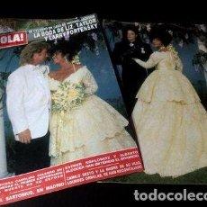 Cómics: ELIZABETH TAYLOR TAPA Y NOTA REVISTA HOLA 2462 1991. Lote 268662129