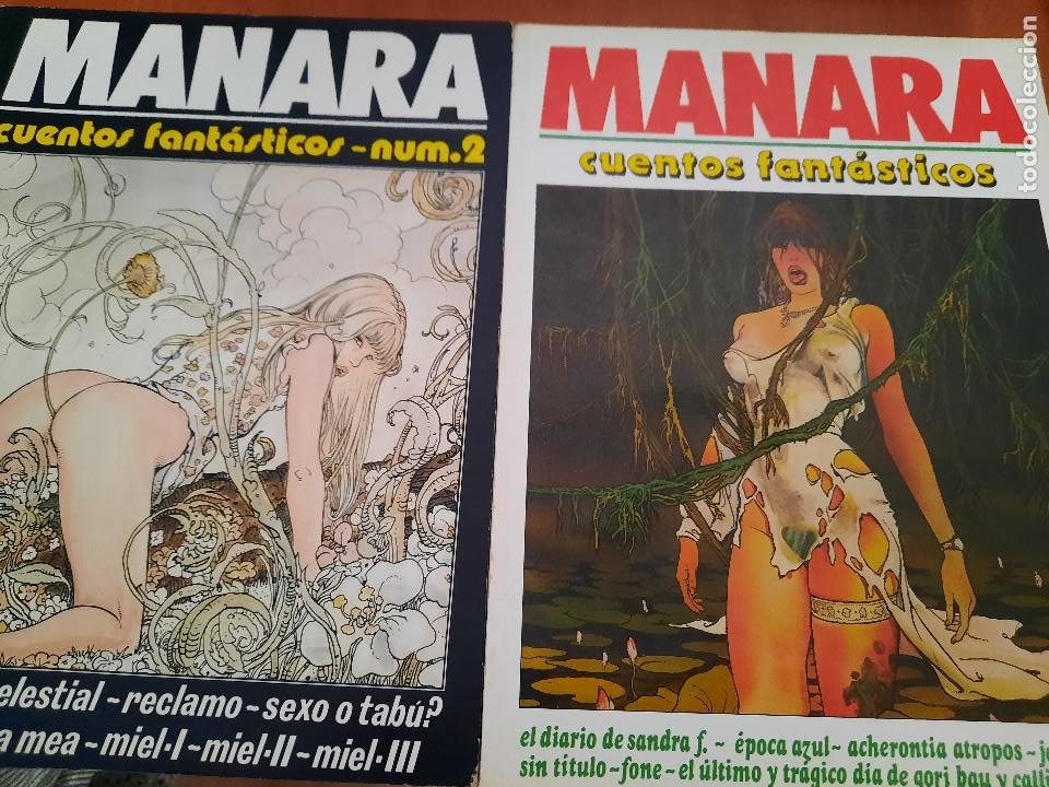 CUENTOS FANTÁSTICOS 1 Y 2. MILO MANARA. BUEN ESTADO. NEW COMIC. (Tebeos y Comics - Comics otras Editoriales Actuales)