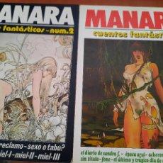 Cómics: CUENTOS FANTÁSTICOS 1 Y 2. MILO MANARA. BUEN ESTADO. NEW COMIC.. Lote 268872979